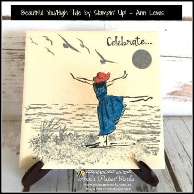 Beautiful You Coaster Tile, watercolouring, watercoloring, Ann's PaperWorks| Ann Lewis| Stampin' Up! (Aus) available from my online store 24/7