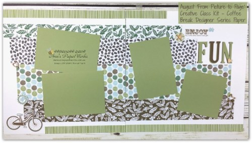 Stampin' Up! Scrapbooking layout, Coffee Break DSP, four picture double layout, Bike Ride bundle, Stampin' Up! Ann's PaperWorks Ann Lewis Stampin' Up! (Aus)|Scrapbooking/Project Life class