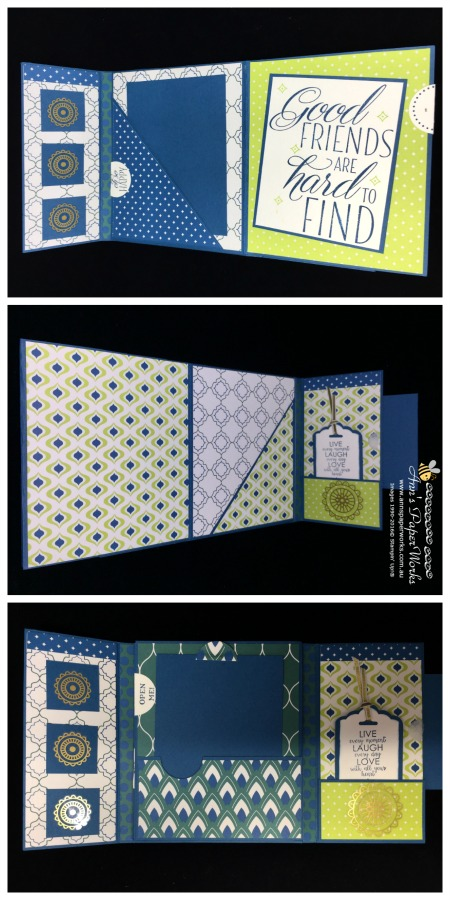 Mini Accordion Album featuring Eastern Palace Suite, Special Offer from month of May, Stampin' Up! 2017-18 Catalogue Kick-Off Party Ann's PaperWorks| Ann Lewis| Stampin' Up! (Aus) online store 24/7