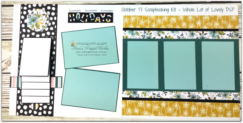 October Scrapbooking Kit, Scrapbooking Class Brisbane, Whole Lot of Lovely DSP, Waterfall layout, Stampin' Up! Ann's PaperWorks Ann Lewis Stampin' Up! (Aus)|Scrapbooking/Project Life class,