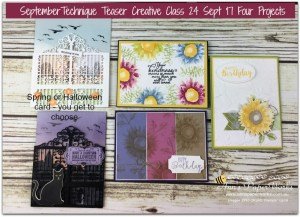 Painted Harvest Stamp Set, Detailed Gate Thinlits, September Technique Teaser Creative Class, Stampin' Up! 2017 Christmas Holiday Catalogue Ann's PaperWorks| Ann Lewis| Stampin' Up! (Aus) online store 24/7