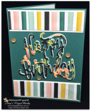 Multipurpose adhesive sheets, Happy Birthday Card, Whole Lot of Lovely DSP, Stampin' Up! 2017-18 Catalogue Ann's PaperWorks| Ann Lewis| Stampin' Up! (Aus) online store 24/7