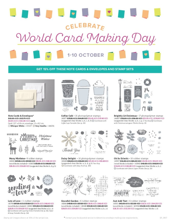 Stampin' Up! Special Offers, World Card Making Day, Stampin' Up! Special offer, Stampin' Up! 2017-18 Catalogue Ann's PaperWorks| Ann Lewis| Stampin' Up! (Aus) online store 24/7