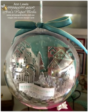 Handmade Christmas Ornament, Hearts Come Home Stamp Set and Thinlits, Stampin' Up! 2017 Christmas Holiday Catalogue Ann's PaperWorks| Ann Lewis| Stampin' Up! (Aus) online store 24/7, http://bit.ly/2A2JVDr