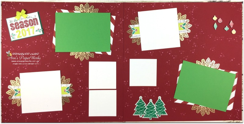 January Scrapbooking Kit, Be Merry DSP, Foil Snowflakes, Stampin' Up! Ann's PaperWorks Ann Lewis Stampin' Up! (Aus)|Scrapbooking/Project Life class
