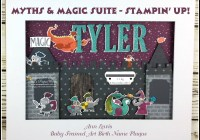 Stampin' Up! Ann's PaperWorks, Ann Lewis, Stampin' Up! (Aus)|Stampin' Up! 2018 Occasions Catalogue| online store 24/7, Global Stampers Challenge, Handmade Nursery Name Sign, Framed Art, Baby Name Plaque, Myths & Magic Specialty Designer Series Paper, Magical Day Stamp Set,