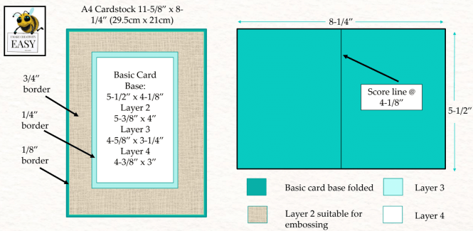 standard card sizes and measurement guide for a4 handmade