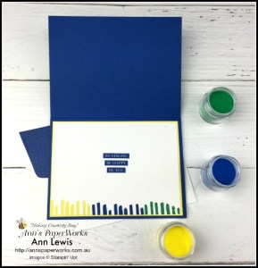 Masculine birthday card, birthday card, Rooted in Nature Stamp Set, Playful Backgrounds Stamp Set, multi-coloured heat embossing, happy birthday, 2018-2020 In Color Emboss Powders, Stampin' Up! 2018-19 Catalogue Ann's PaperWorks| Ann Lewis| Stampin' Up! (Aus) online store 24/7