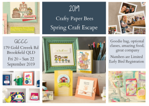 Cardmaking and scrapbooking retreat, Brisbane, Australia, creative class,