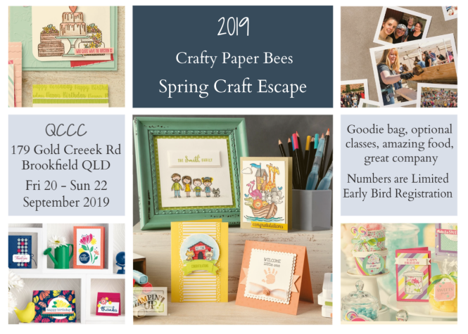 Crafty Paper Bees Retreat, Crafty paper Bees Spring Craft Escape, Scrapbooking, cardmaking, Brisbane, Australia, Crafty Paper Bees, 2019-20 Stampin' Up! Annual Catalogue, 2019 Christmas Catalogue, Ann's PaperWorks Ann Lewis Stampin' Up! (Aus)| online store 24/7