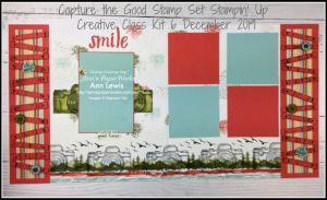 Capture the Good Stamp Set, Waterfront Stamp Set, Artisan Textures Stamp Set, Camera, Smile double page scrapbooking layout, Scrapbooking kit, scrapbooking class,  Stampin' Up! 2019-20 Catalogue Ann's PaperWorks  Ann Lewis  Stampin' Up! (Aus) online store 24/7