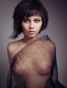 see througt short hair sexy