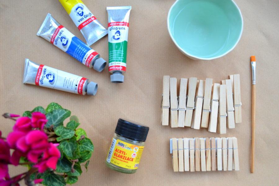DIY Osternest basteln aus Klammern