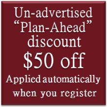 plan ahead discount