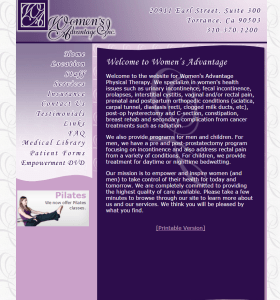 Womens-Advantage-old website homepage