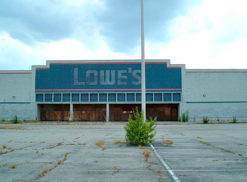 empty store - empty parking lot ilsr-org