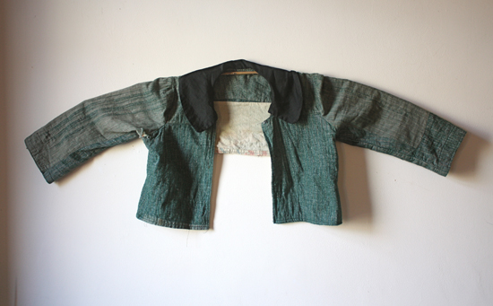 antique teal jacket