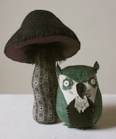 owl and toadstool