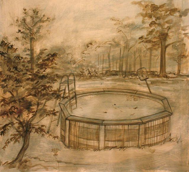pool - underpainting