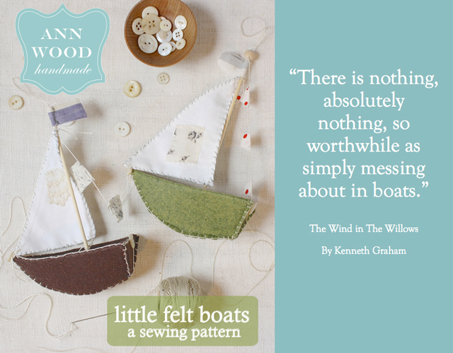 felt boat craft pattern