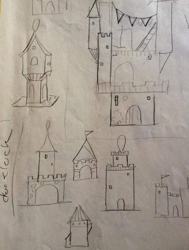 castle sketches