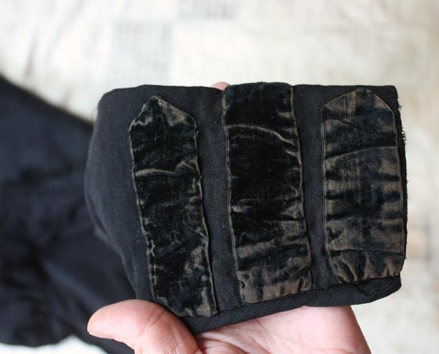 black velvet cuff