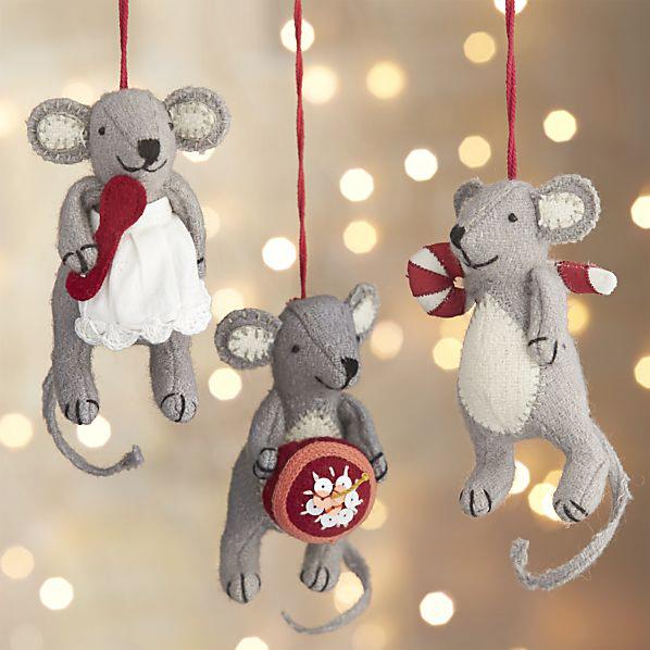 baking mice ornaments