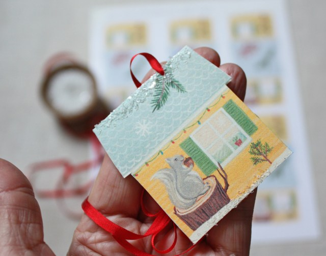 little house gift tags