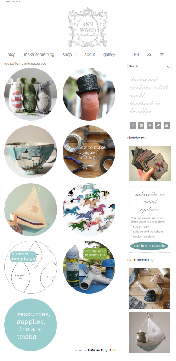 ann wood handmade free resources
