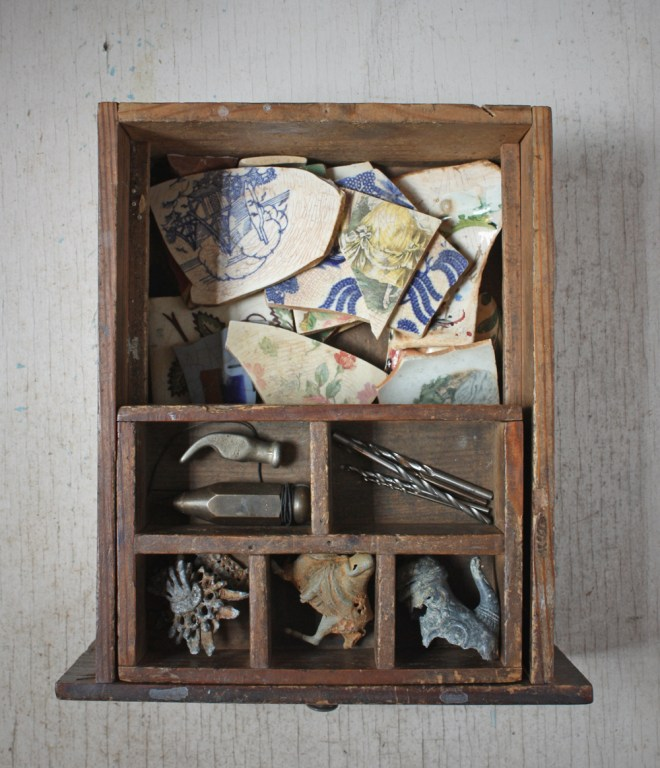 metal and ceramic drawer