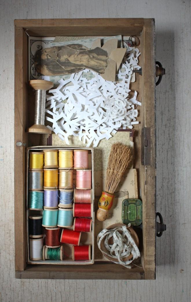 paper snowflake drawer