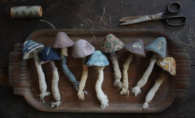 textile toadstools