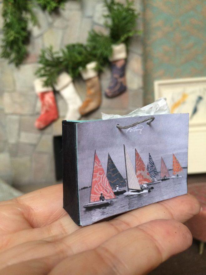 miniature fortuny shopping bag