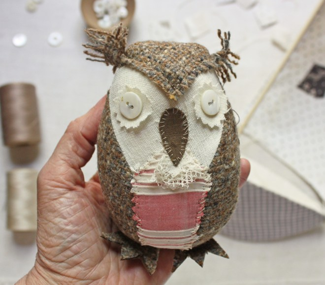 hand stitched owl
