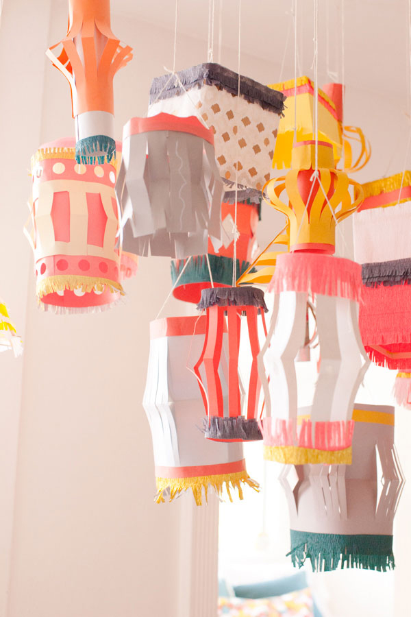 paper lanterns by oh happy day