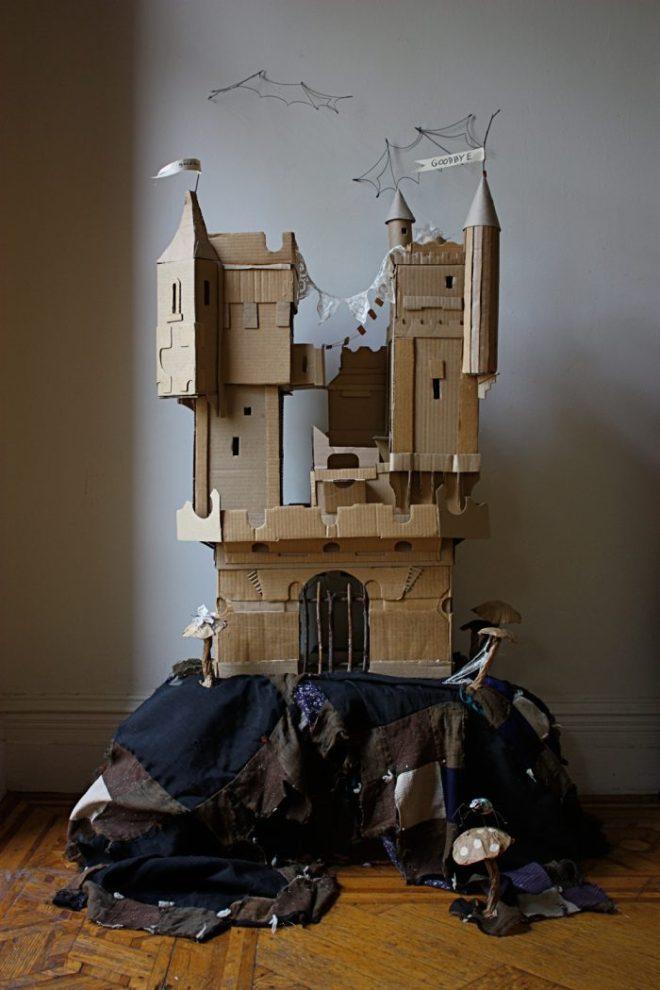 spooky cardboard castle