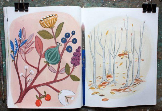ann wood sketchbook : 2/15 and 16