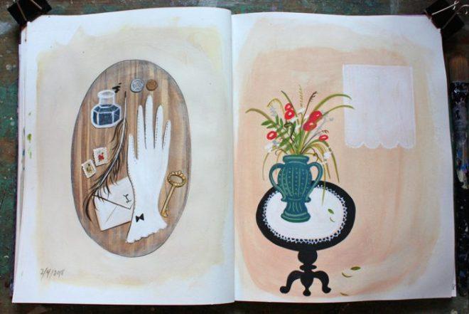 ann wood sketchbook : 2/4 and 2/5