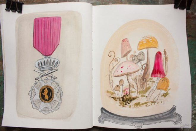 sketchbook : terrarium