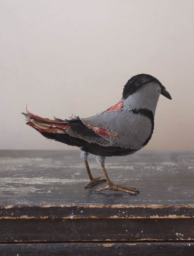 handmade fabric bird