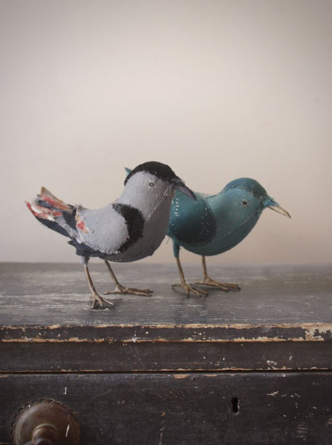 hand stitched birds