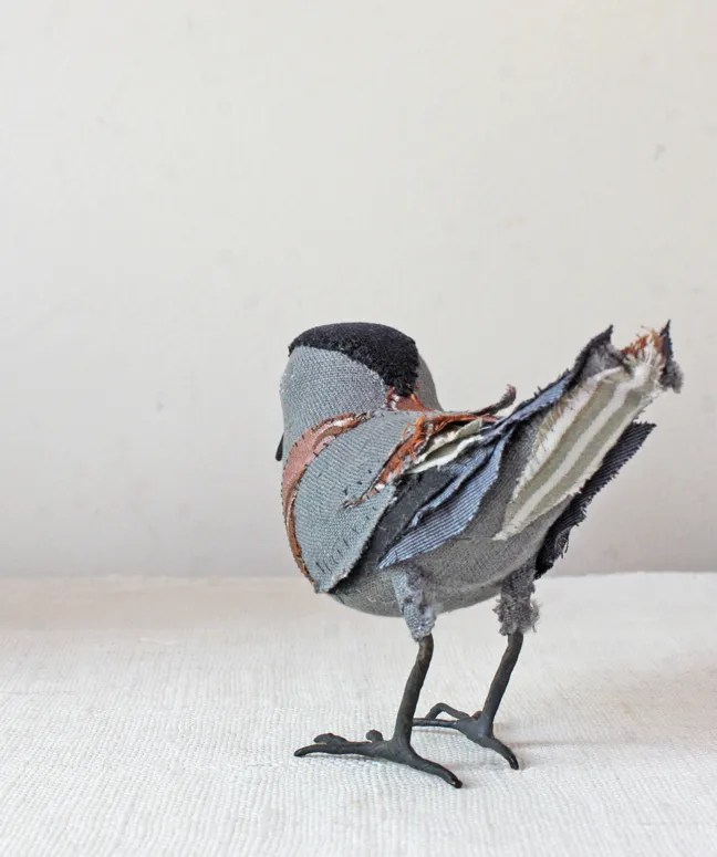 hand stitched songbird - back
