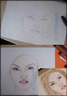Elisha Cuthbert Drawing