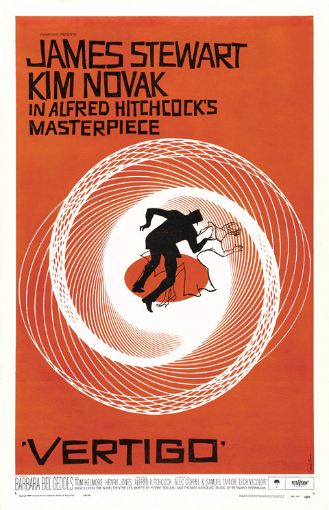 Saul Bass one sheet Vertigo movie poster