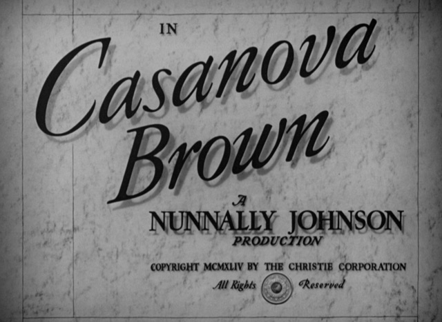 Image result for Casanova Brown 1944 credits