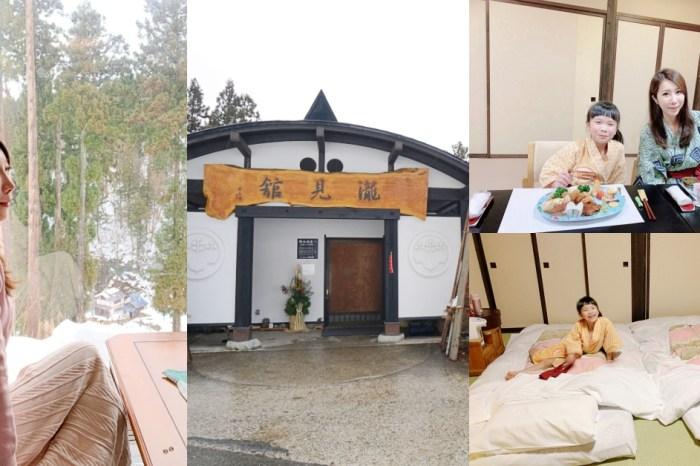 【日本東北】銀山溫泉住宿推薦♥銀山溫泉瀧見館一泊二食。窗外就是銀山瀑布