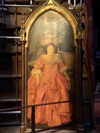 The original Fat Lady portrait/door.