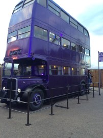 After going through the cafe and trying Butterbeer, we then went into a little outside area where we saw the Knightbus.