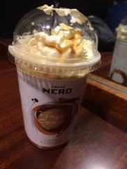 "A ""frappe"" which seem to be really popular here. It's an ok alternative to iced coffee."