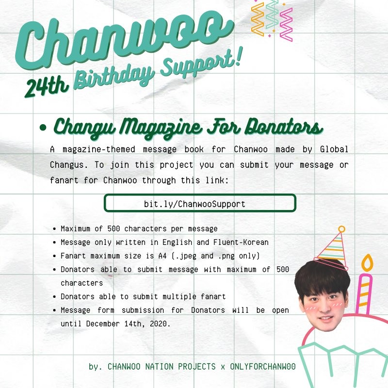 Join Now A Birthday Project Support For Ikon S Jung Chanwoo From Changu Annyeong Oppa